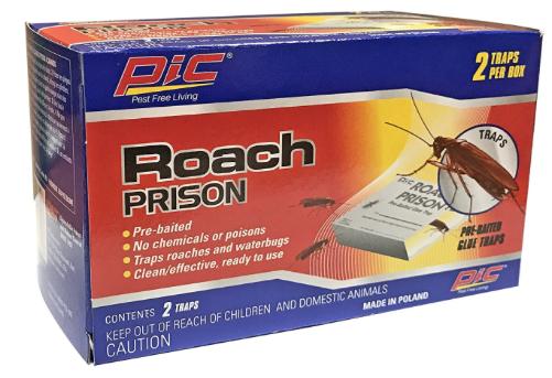 Pic Roach Prison Pre-Baited Glue Trap